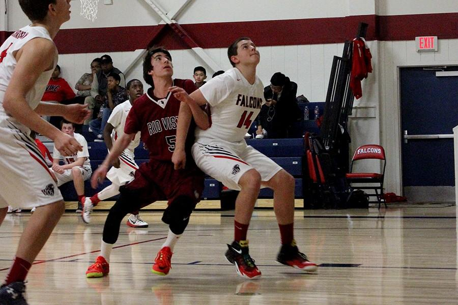 Tyler Kenyon goes in for the rebound against Rio Vista on January 13.