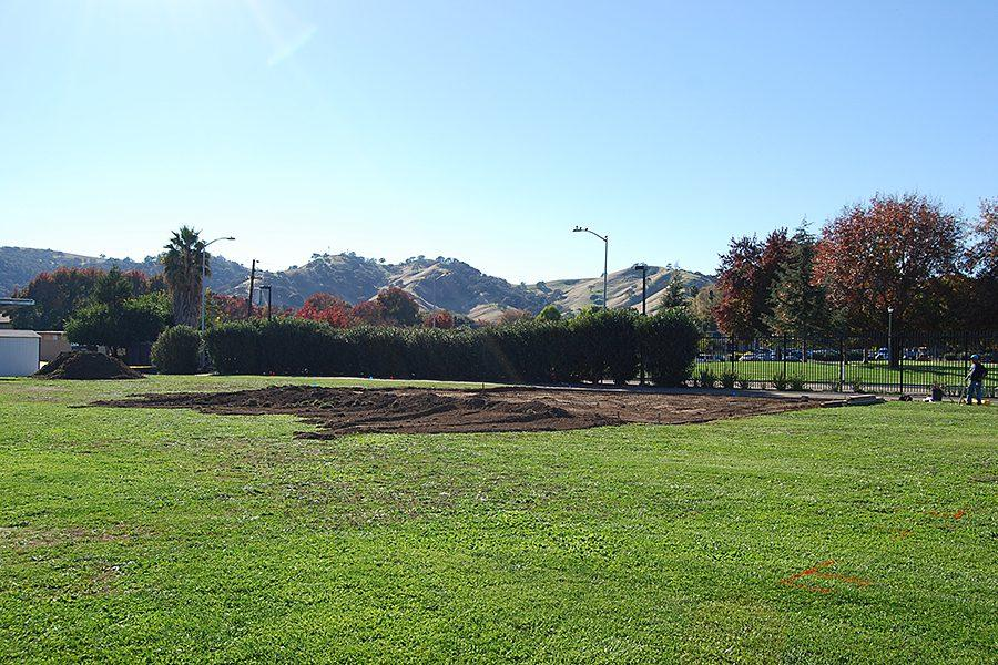 VCS starts construction for the high jump platform on November 17. This area is directly outside the high school.