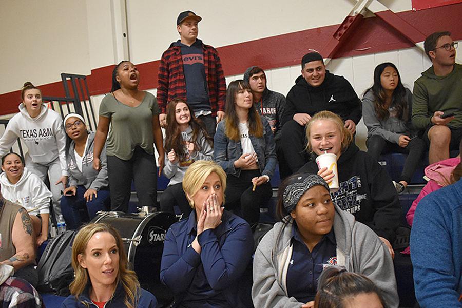 Fans React to Basketball Game
