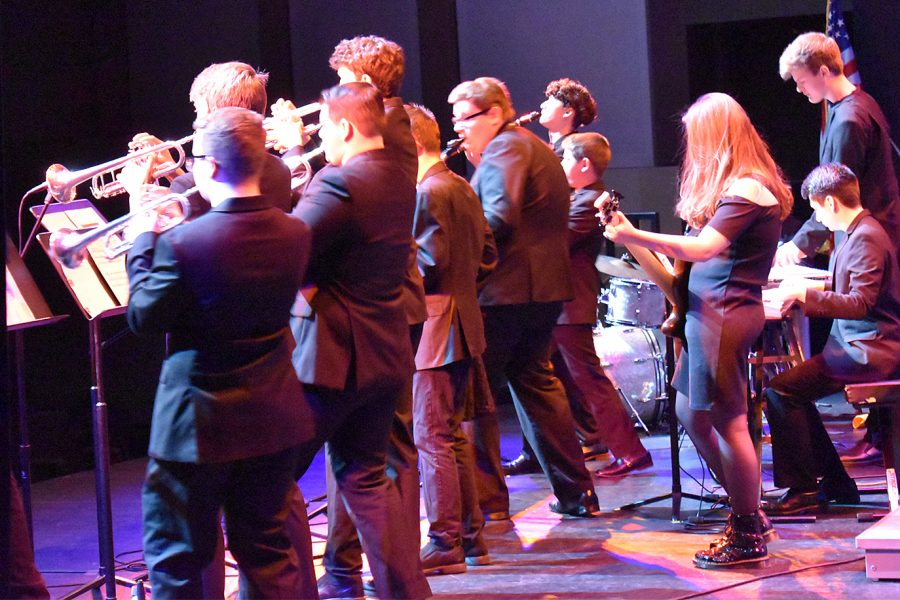 The Jazz band performs at the Vacaville Performing Arts Theatre on Tuesday, February 11