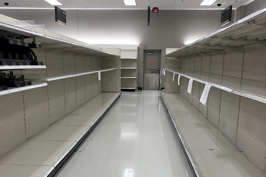 Editor Josh Gorton went to buy toilet paper at Target in Vacaville only to find what many other VCS families have found, empty shelves.