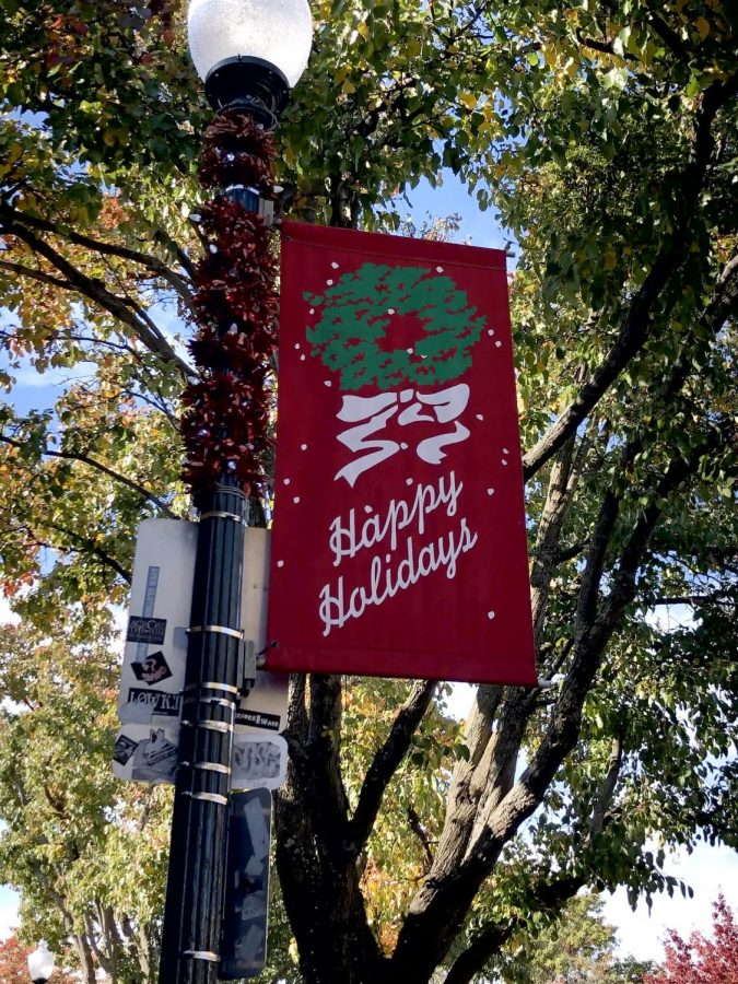 Festive sign in downtown Vacaville