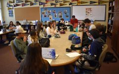 Student Council discusses the success of the Game Night event on April 13, 2021.