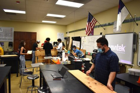 The 2nd period Life Skill class works on their project led by teacher Mr. Todd Kosiewicz.